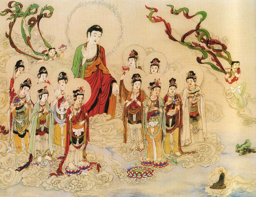 故事 纪晓岚/1.阿弥陀佛与诸圣众接引往生极乐世界。