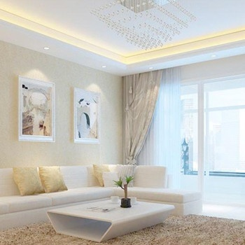 不多的米色;而中式风格的窗帘选择多数也以深色为主
