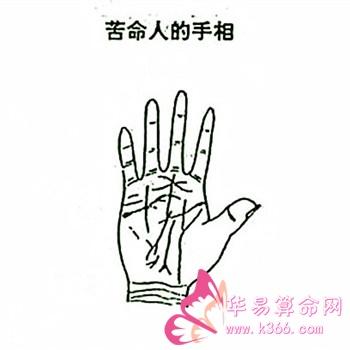 图解苦命人的手相特征